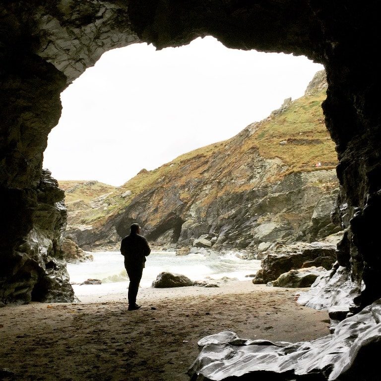"""Inside Merlin's Cave. Look out for the new """"controversial"""" carving"""