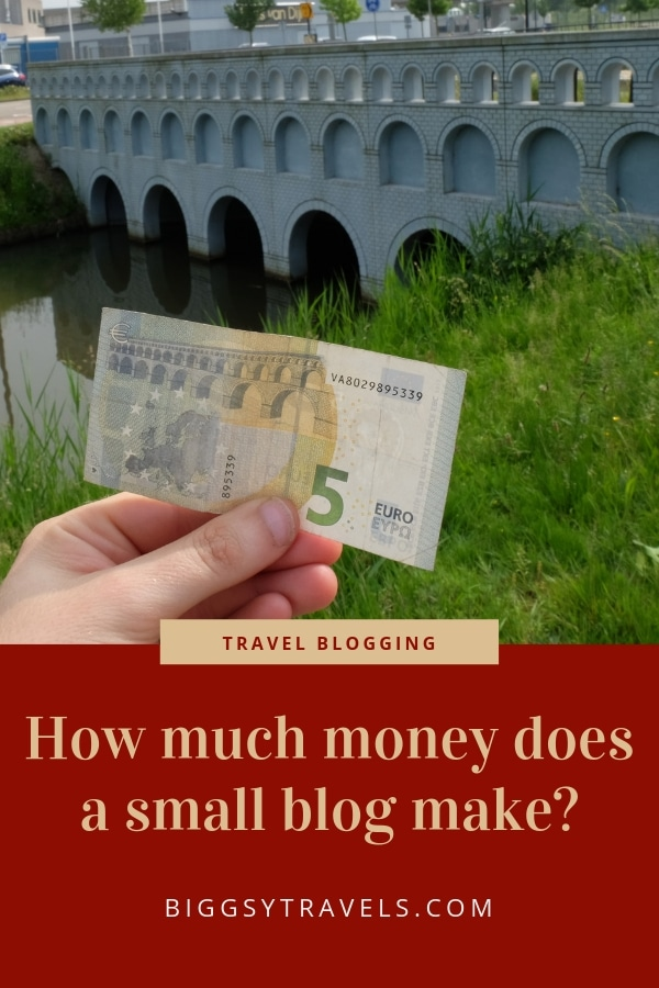 How much money does a small blog make?