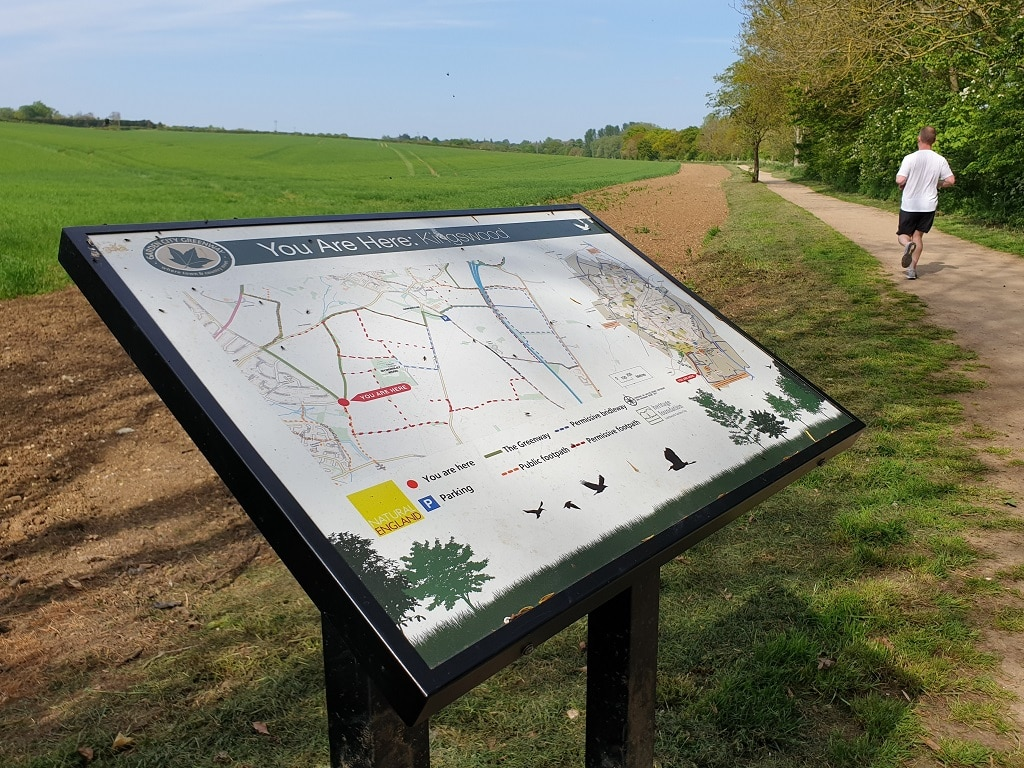 The Greenway information board with map