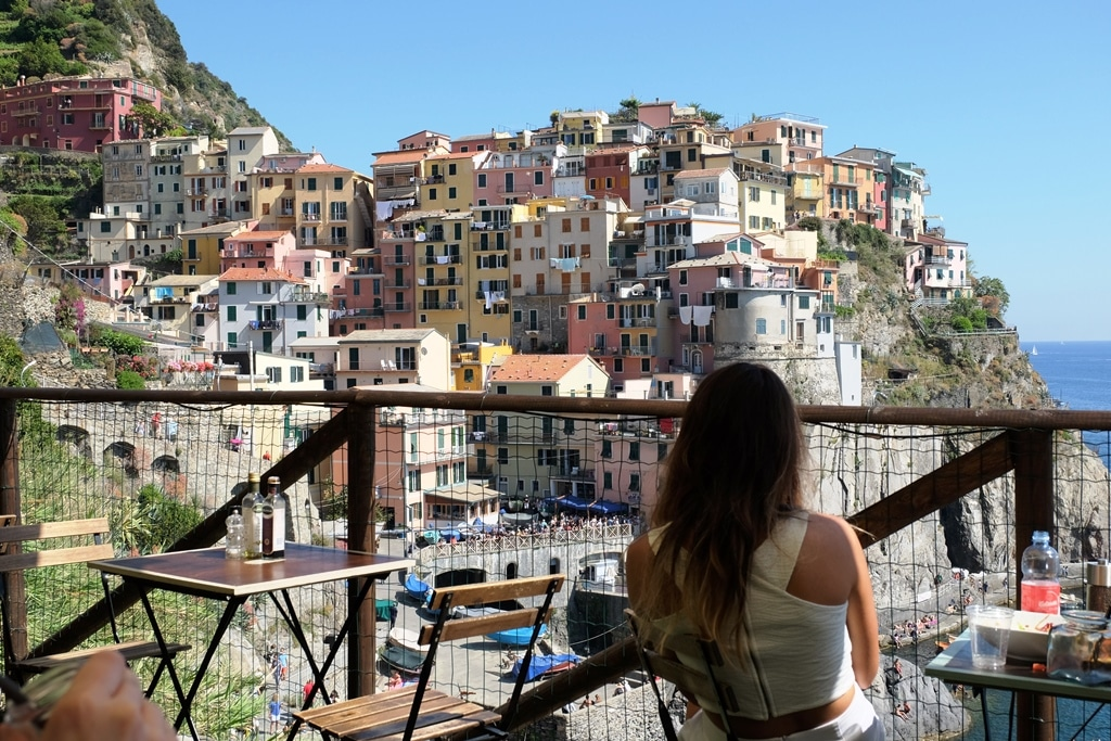 The view of Manarola from the Nessun Dorma bar