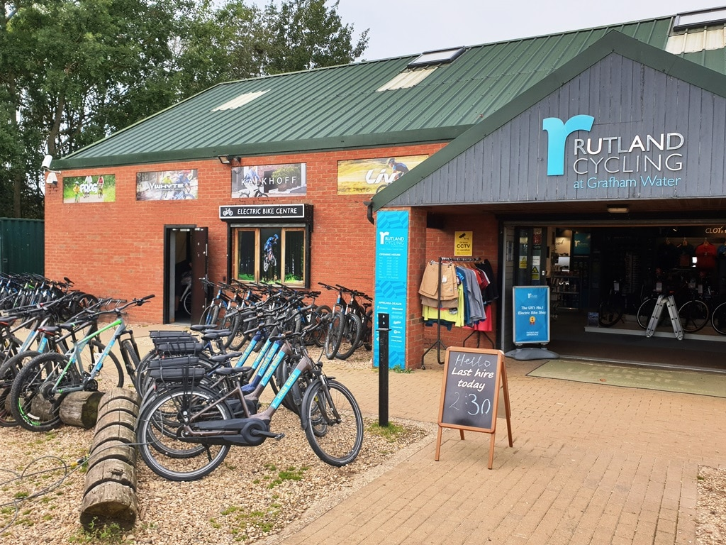 The Rutland Cycles at Grafham Water bike hire shop