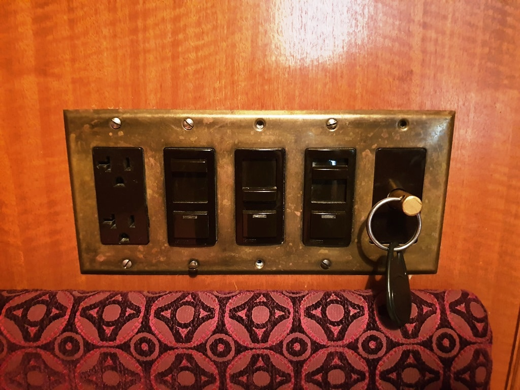 The Jane Hotel cabin room controls