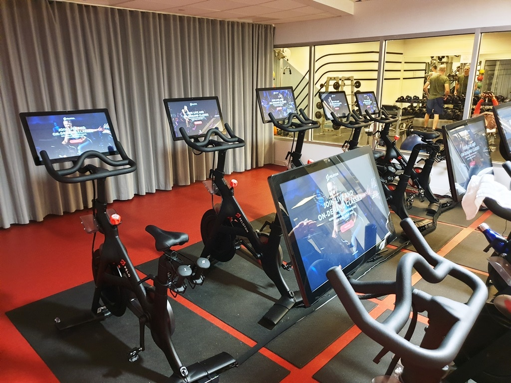 Hotels with Peloton bikes? The Sheraton Times Square Peloton room