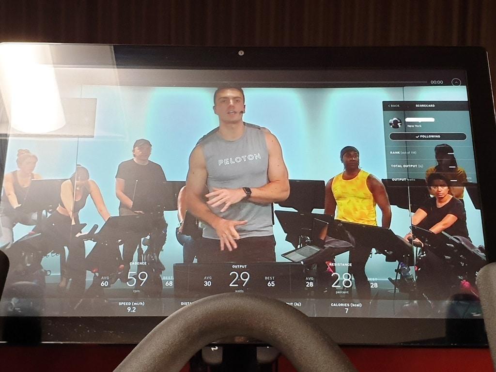 Peloton bike console screen