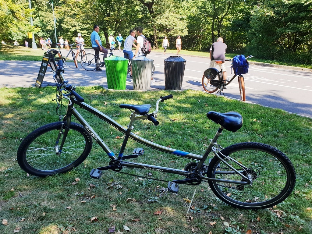 Raleigh Tandem bicycle in Central Park