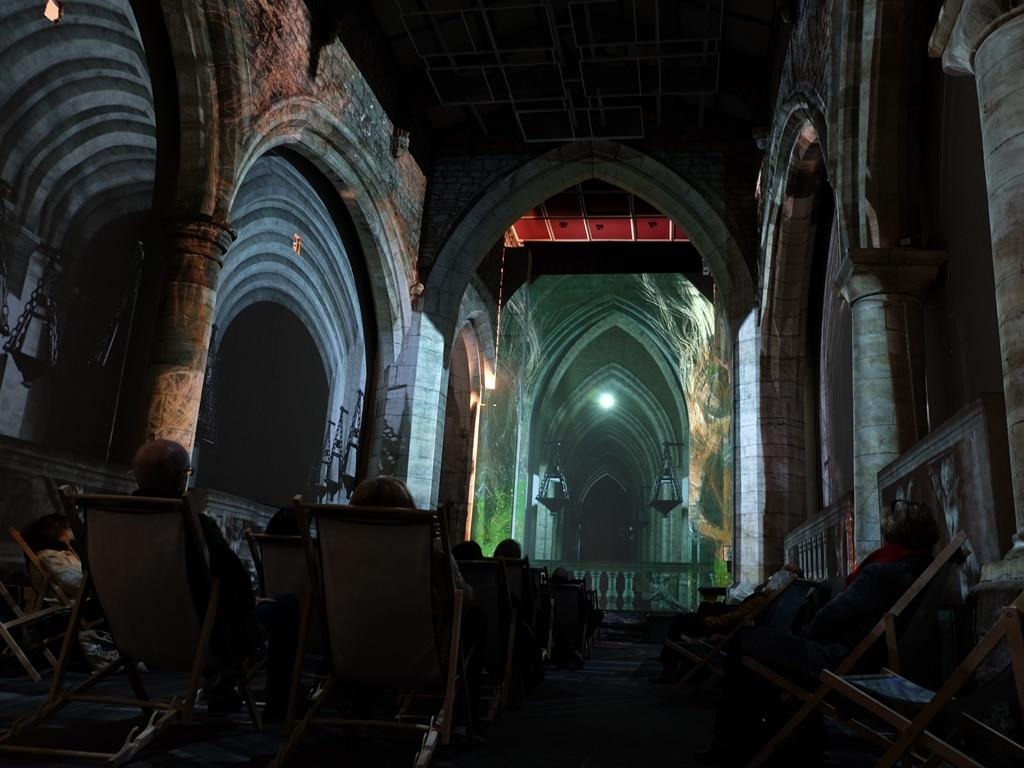 St Marys church York light show