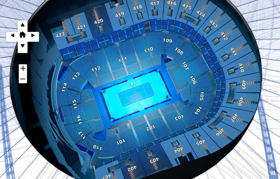 The O2 tennis seating plan