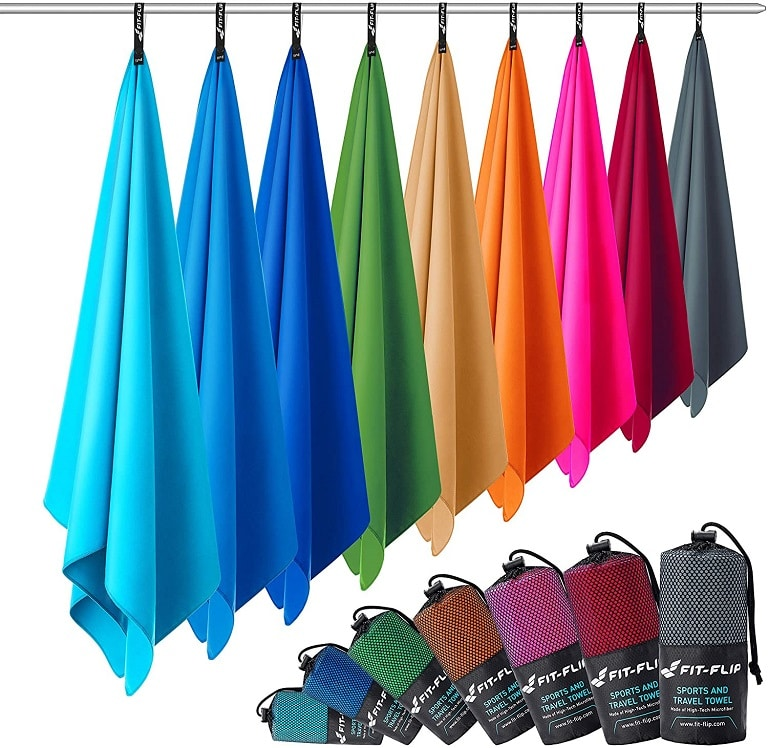 Microfibre towels in 12 colours