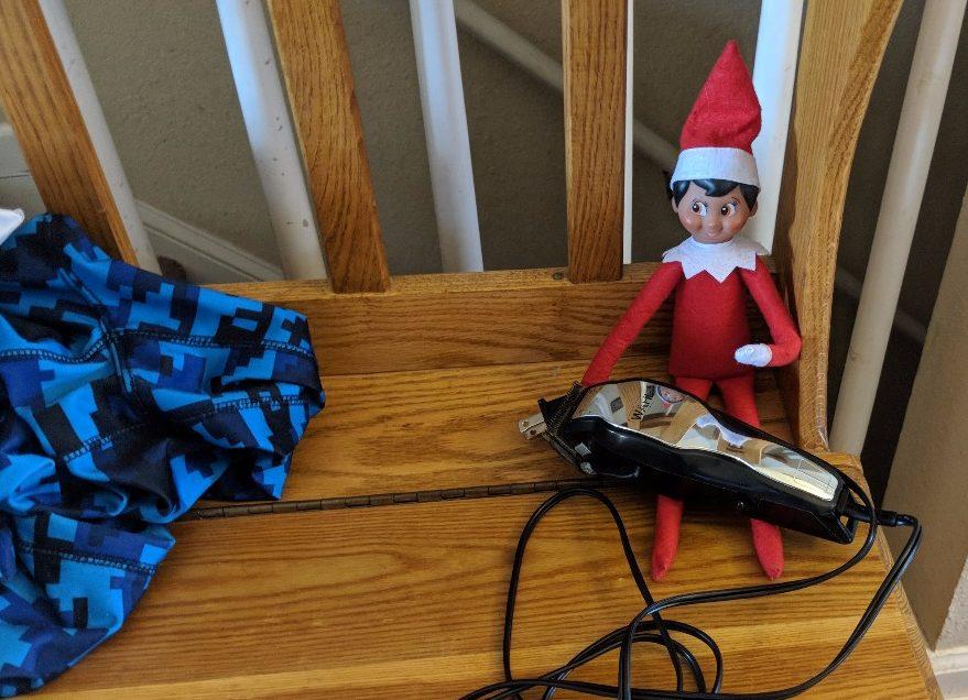 mr jingle bells michief - elf on the shelf