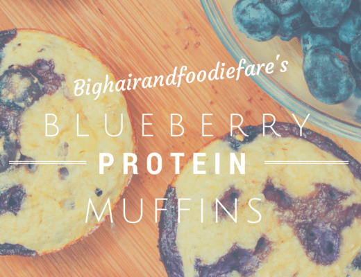Blueberry protein muffin recipe with macros.