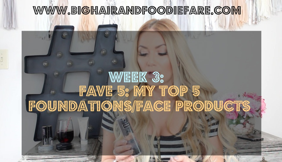 Blogger review: My Top 5 Face Makeup Products