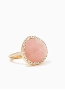 Pink stone cockatail ring: Charming Charlie's.
