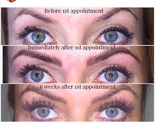 Microblading Brow Progression