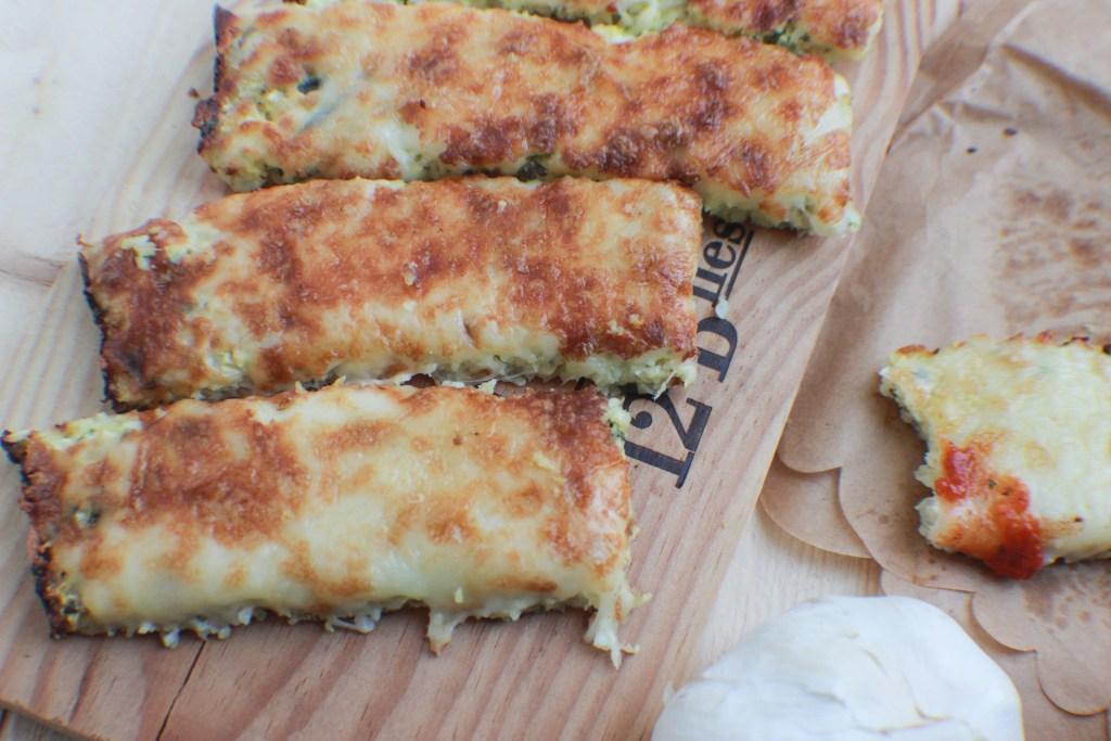 Low- Carb, Gluten-Free Cauliflower Cheese Sticks