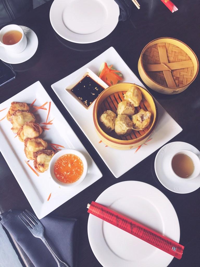Bankok Restaurant Indianapolis: Crab Rangoons and Steamed Dumplins