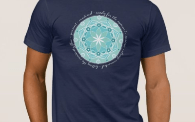 Apparel – Mandala: present, centered, ready for the moment, curious, always connected, letting the creativity flow – on dark color