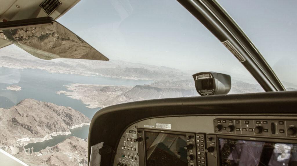 Airplane Flying Over Las Vegas