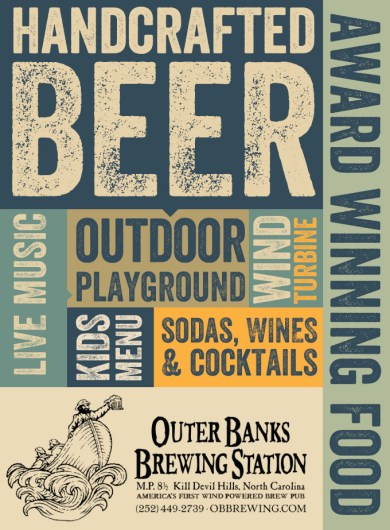 Outer Banks Brewing Station Ad