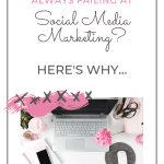 silver laptop with pink peonies, white iphone on a notebook and white mouse on a dotted mouse pad