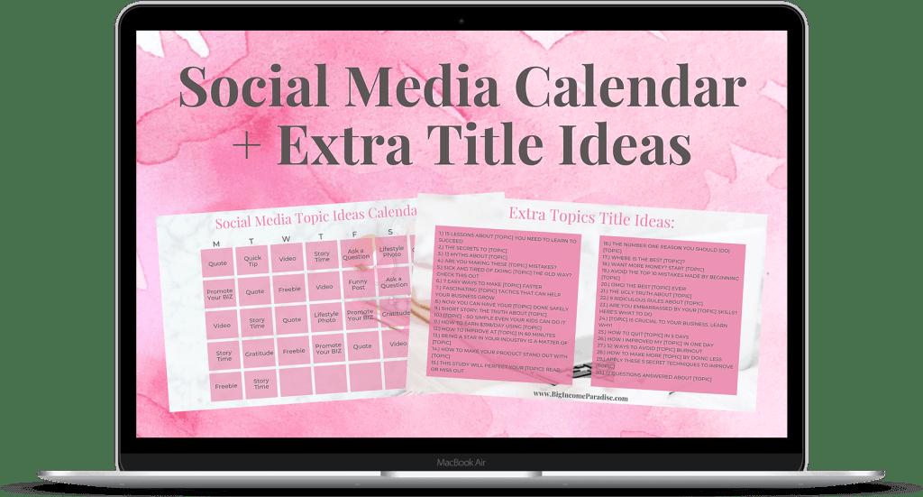 Grab Your Social Media Calendar + Extra Title Ideas