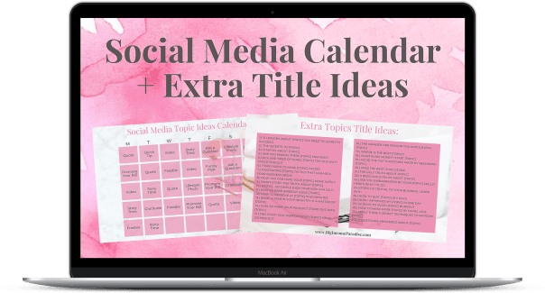 Grab Your Social Media Calendar + Extra Title Ideas