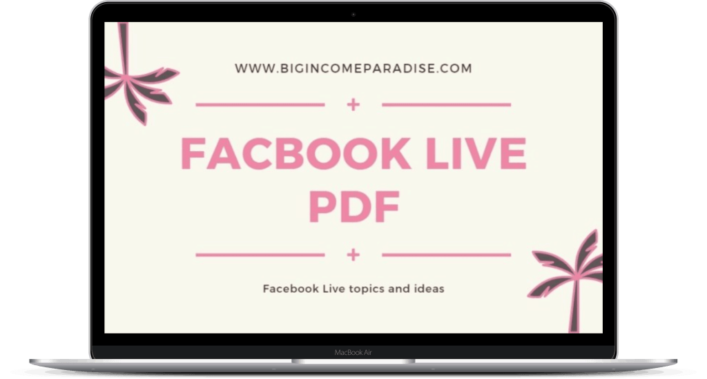 Facebook Live Ideas PDF