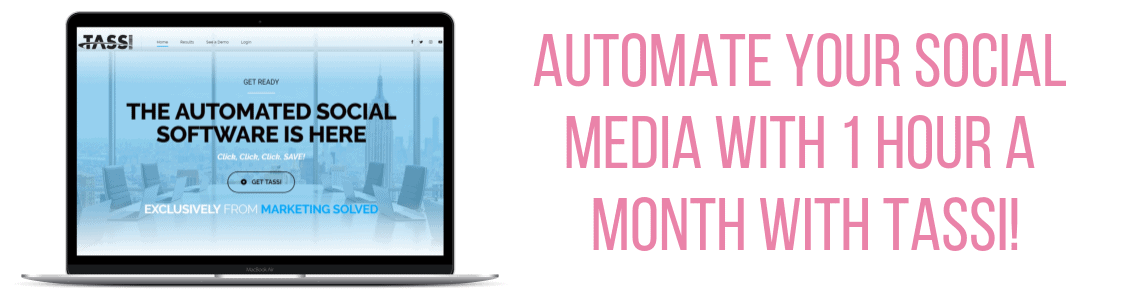 Automate your Social Media with 1 hour a month with TASSI!