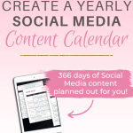 How To Easily Create a Yearly Social Media Content Calendar