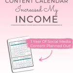ipad with a calendar on a pink background