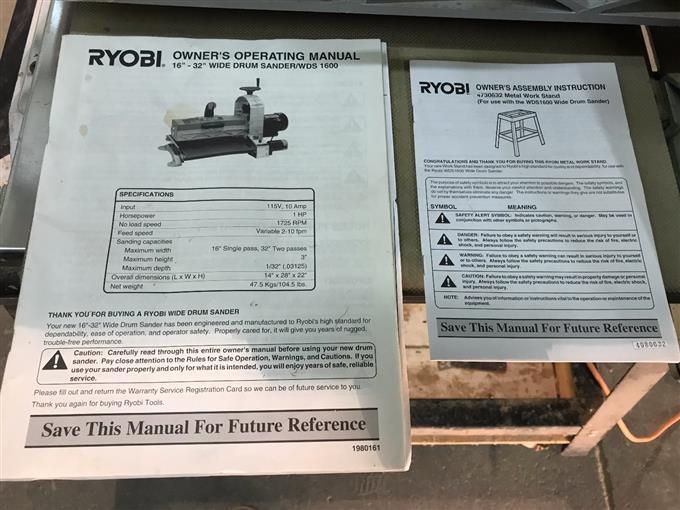 Ryobi Wds1600 Manual