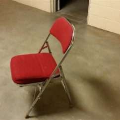 Krueger Folding Chairs Chair Covers Doncaster Locking Cushion Bigiron Auctions