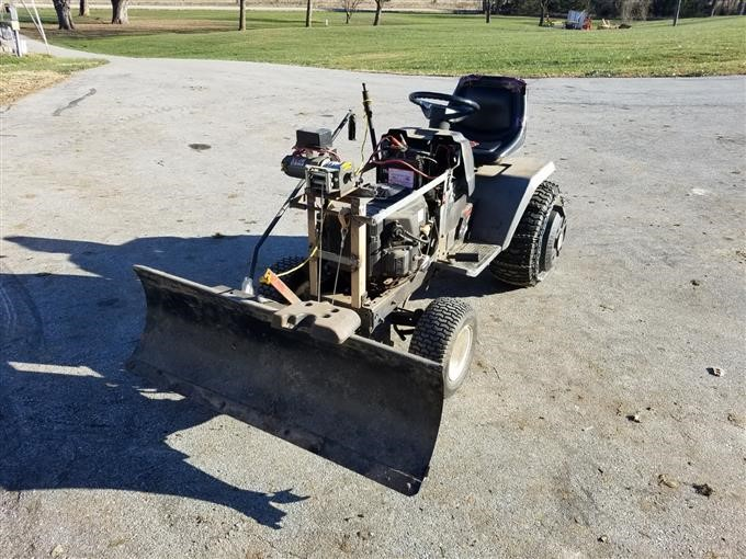 Equipment (qte) is your truck and trailer repair headquarters.qte is a full service dealer/distributor for snowplows, salt and sand spreaders, liftgates, truck bodies, hydraulics, small engines, mowers and much more. Craftsman Lawn Tractor W Winch Snow Plow Bigiron Auctions