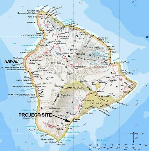 Kau Big Island Hawaii Map