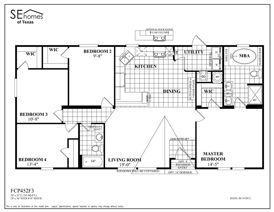 Legend Mobile Home Floor Plans