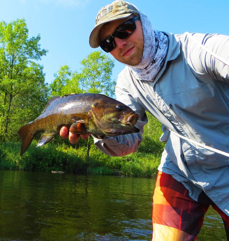 fly fishing smallmouth bass