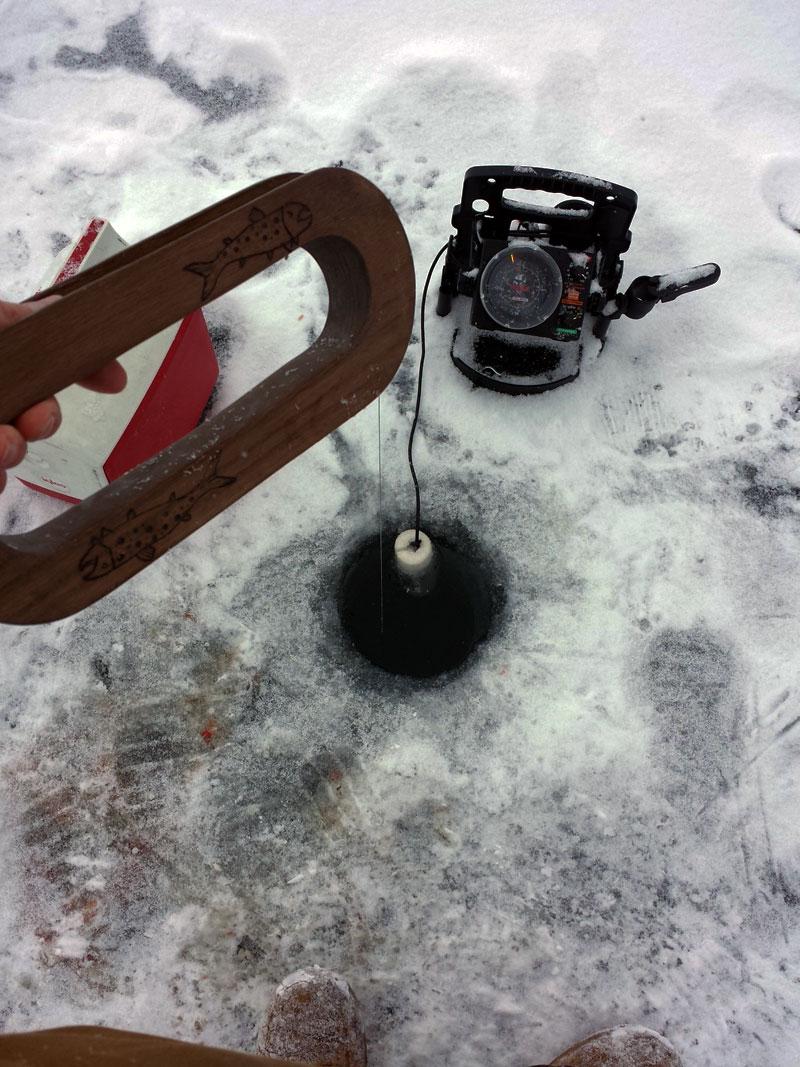 Bobbing for Lake Trout on Lake Superior