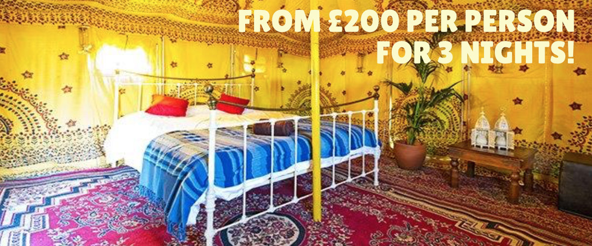 Luxury Moroccan tent.