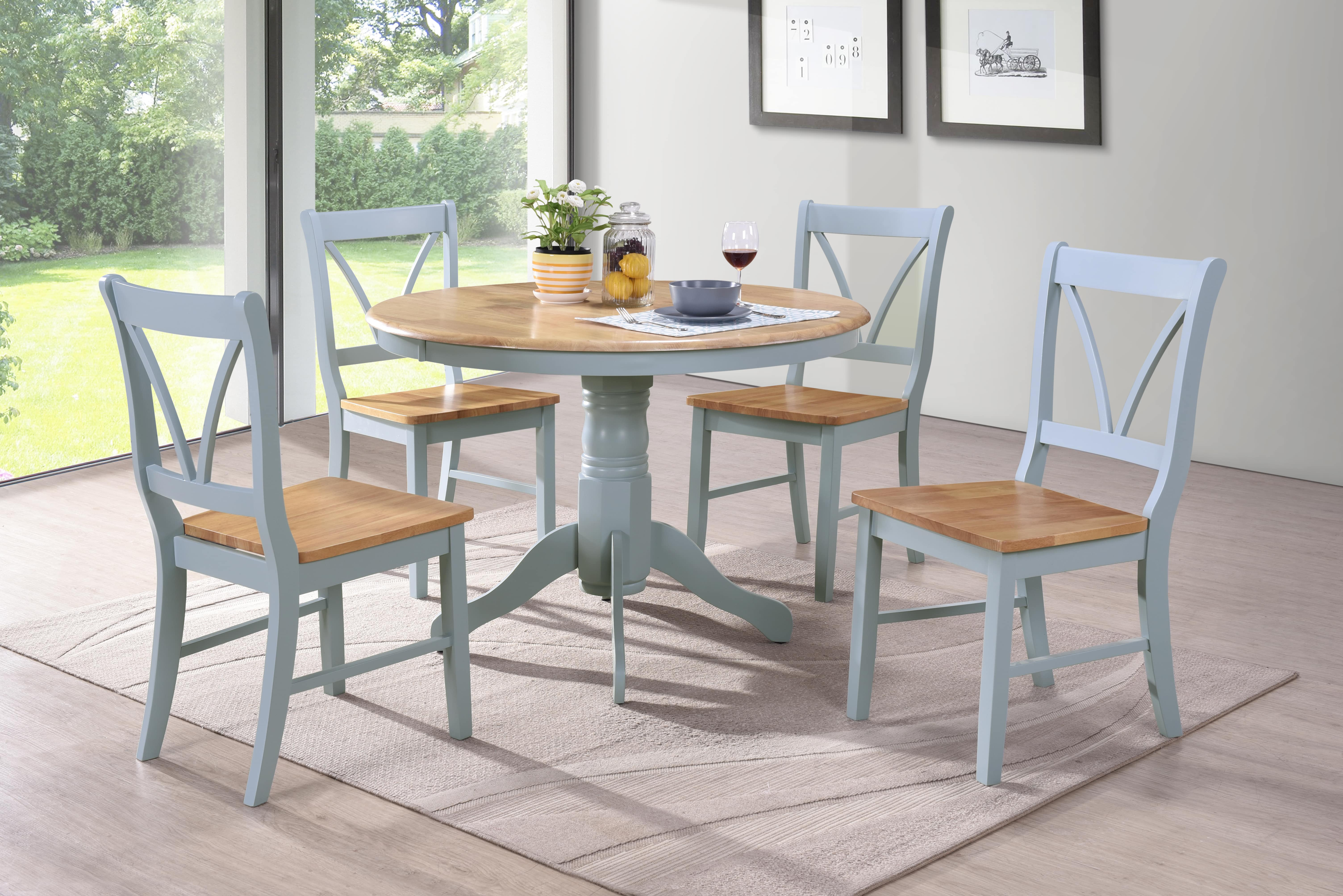 Dining Room Chairs Set Of 4 Marshell Dining Table And 4 Chair Set