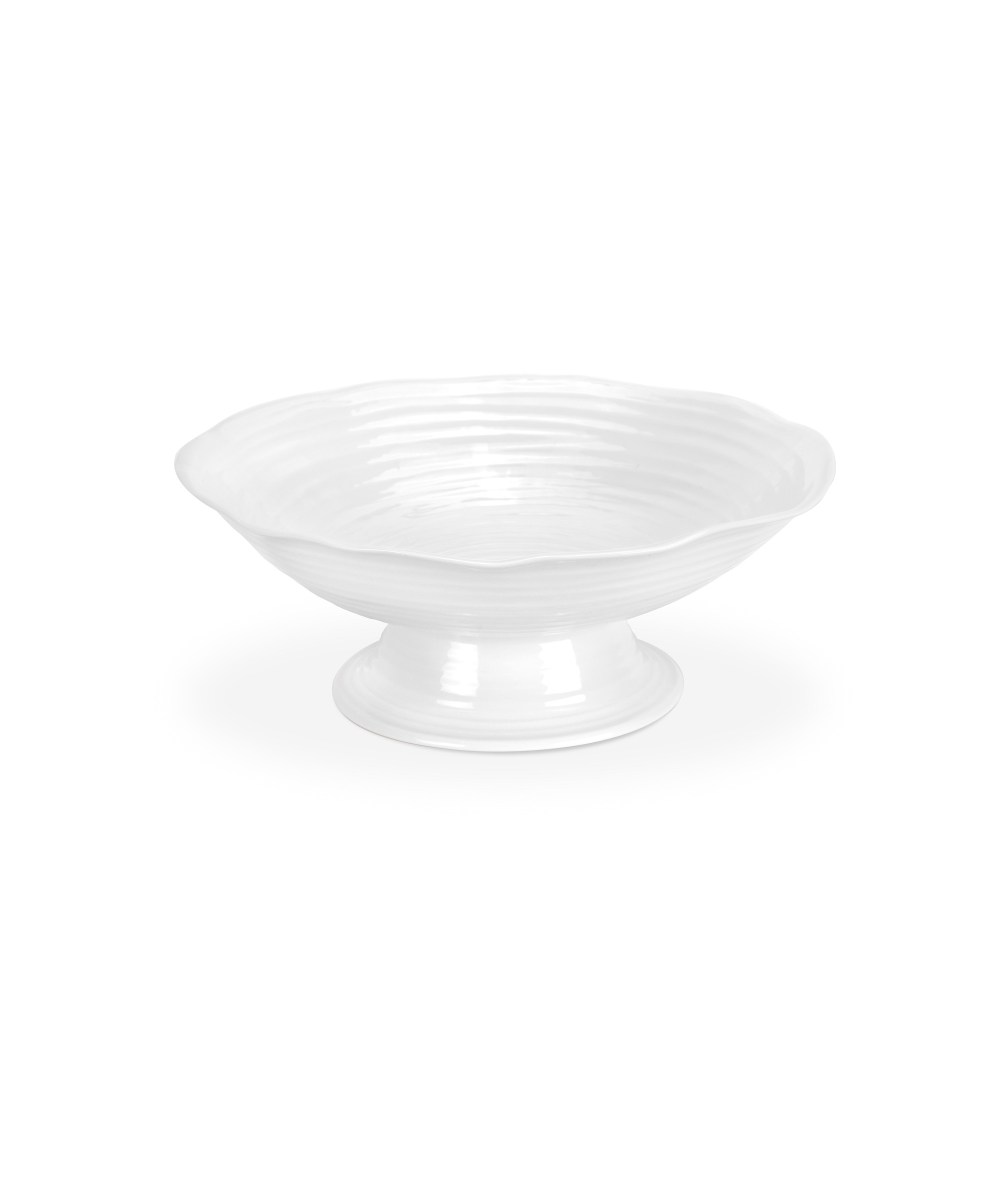 """Footed Comport Bowl 12.75"""" White"""