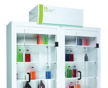Ventilated Chemical Storage Shelving