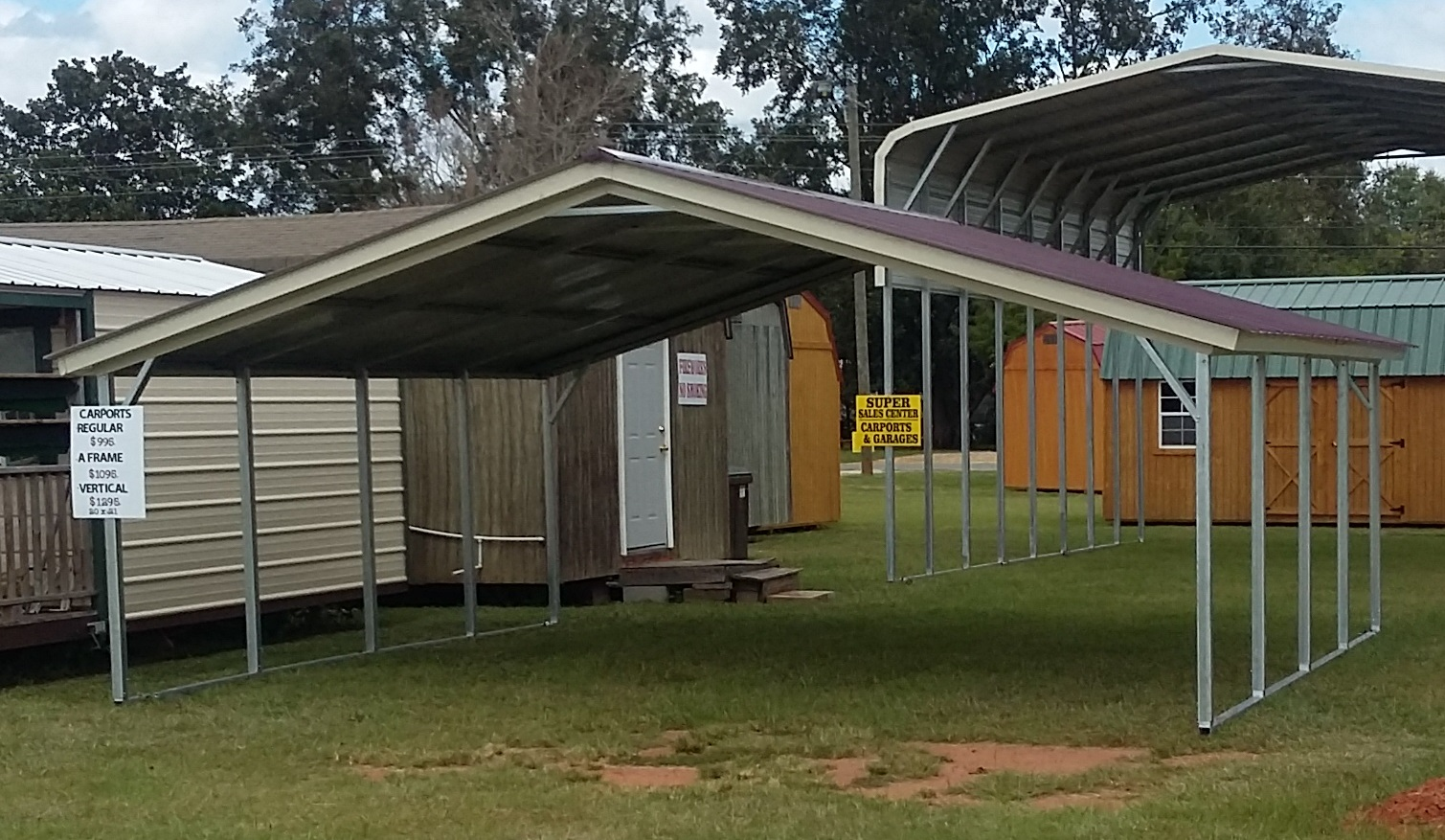 18 X 21 X 6 Side Height Vertical Style Carport Big