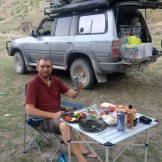 Dinner at our campsite