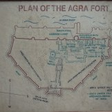 Red Fort Map (Agra, India)
