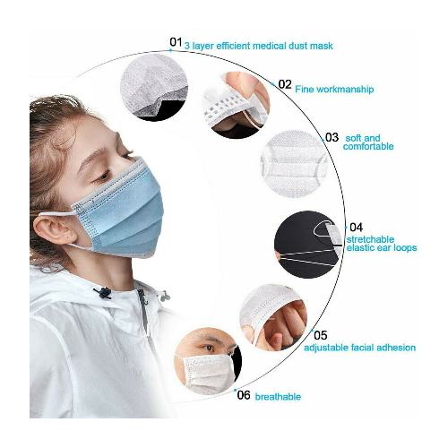 disposable face salon dust ear loop medical mouth flu mask