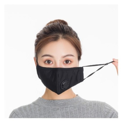 Men Women Anti Dust Mask Anti PM2.5 Pollution Face Mouth Respirator 11 Colors Breathable Valve Windproof Mask Filter