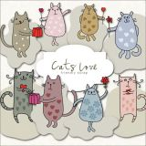 Clipart - Cat Love