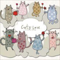 Clipart - Cat Love