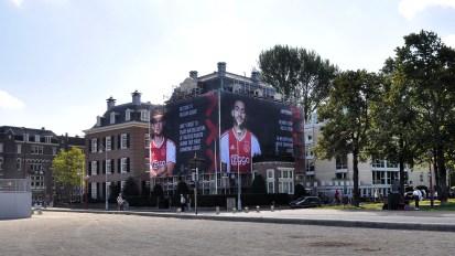 Steigerdoekreclame Museumplein Ajax