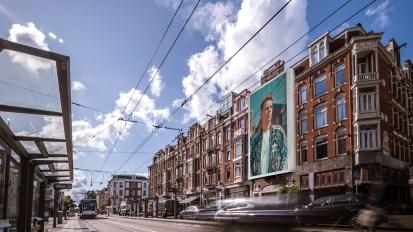 Steigerdoekreclame Eerste Constantijn Huygensstraat