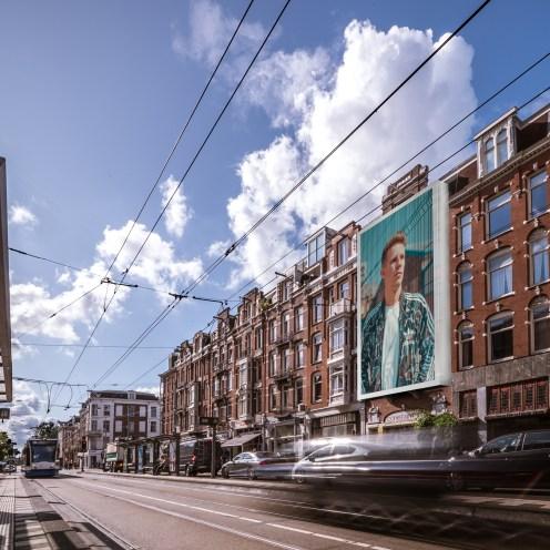 Eerste Constantijn Huygensstraat steigerdoekreclame Big Outdoor media